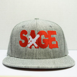 Custom Sage Emboridered Hat