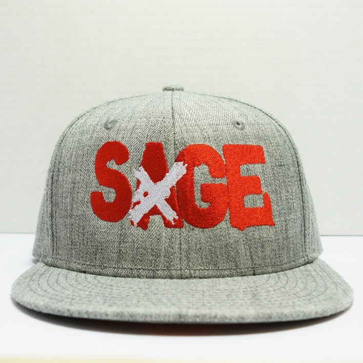 Custom Sage Emboridered Hat
