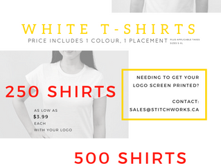 Have an event coming up? Looking to get your logo printed? Need to make a uniform order?