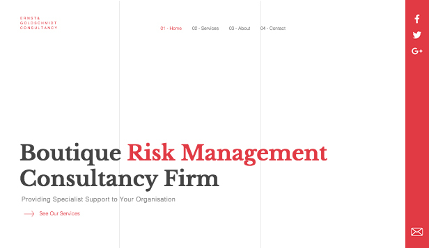 Consulting og coaching website templates – Risk Management Consultants