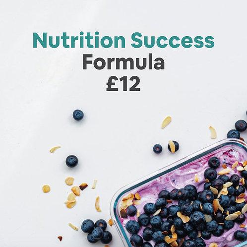 Nutrition Success Formula £12