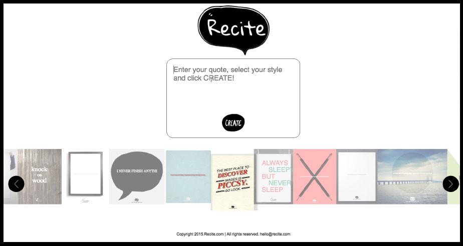 Free social media tools: Recite