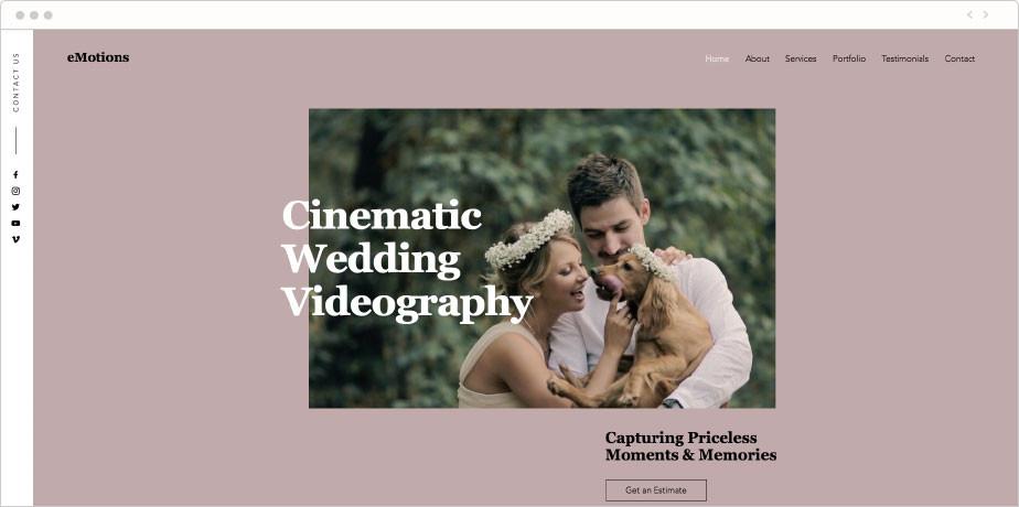 Wedding videographers company template
