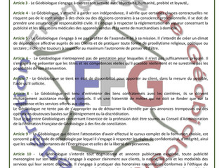 Charte des Géobiologues Fédérés