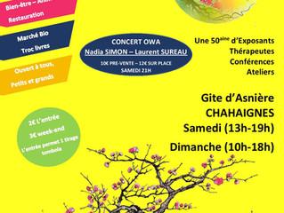 Salon bien-être à Chahaignes les 8 et 9 mai 2021