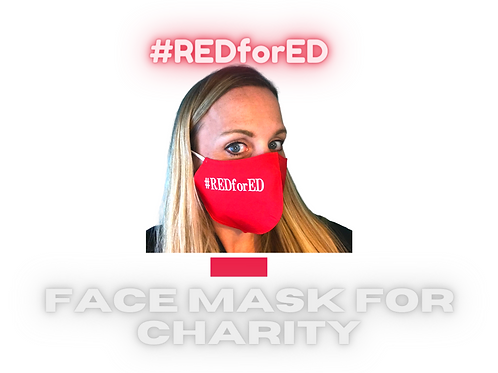 #REDforED Charity Face Mask