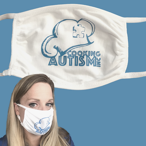 Cooking Autism, Inc. Jersey Charity Face Mask