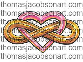 Infinity Heart Tattoo Art