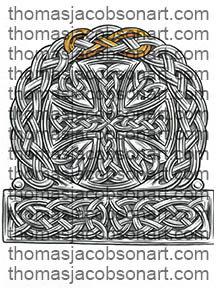 Celtic Cross Half Sleeve Tattoo Art