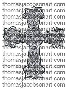 Celtic Cross Tattoo Art