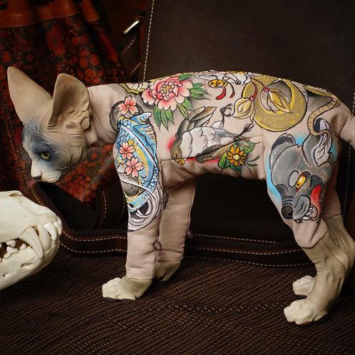 Tattooed Sphynx Cat