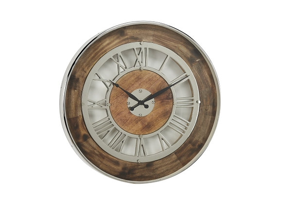 "43578 WD MTL WALL CLOCK 24""D"
