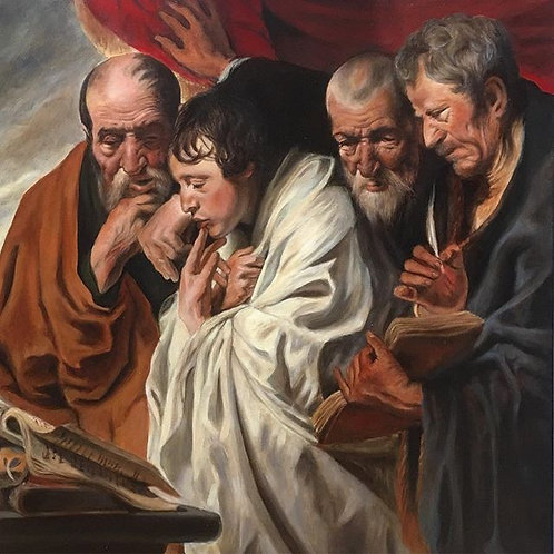 Copie Les quatre évangélistes de Jordaens