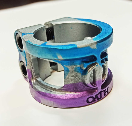 Зажим Oath Cage V2 Alloy 2 bolt Clamp Blue/Pur/Tit