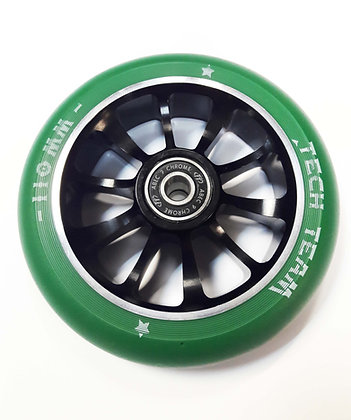 Комплект колес Tech Team 110мм, Форма Winner зелен.