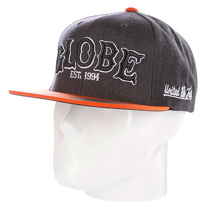 Кепка GLOBE Hitters Cap grey/orange