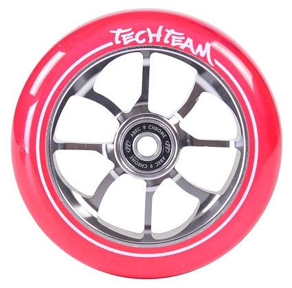 Колеса Tech Team 110мм PO, transparent pink