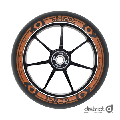 Комплект колес District 110x28mm Dual Width Core Black/Orange