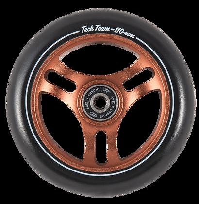 Колеса Tech Team 110мм Форма TRIANGLE  brown