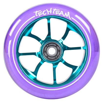 Колеса Tech Team 110мм PO, transparent purple