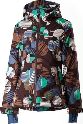 Куртка Rehall  LEILA AOP Dots Choco Brown