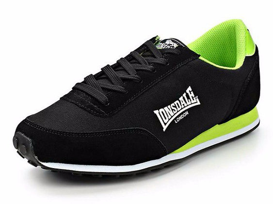 Кроссовки Lonsdale Broughton Mix Black/Green