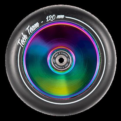 Комплект колес TechTeam 120 мм. Форма Hollow (для самоката Harpy)