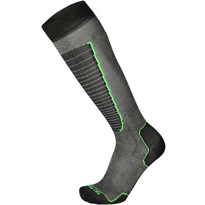 Термоноски MICO Basic ski sock 155nero verde fluo