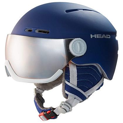 Шлем HEAD QUEEN night blue с визором
