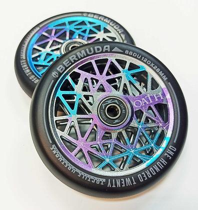 Колеса Oath Bermuda 120 x 26 x 24mm Wheels Blue/Pur/Tit
