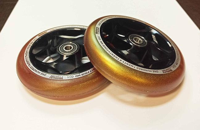 Комплект колес Blunt Prodigy 120х24mm black\gold