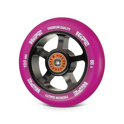 Колеса HIPE  5spoke 100mm black/purple