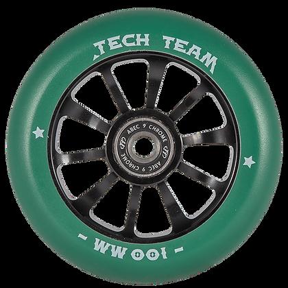 Комплект колес TechTeam Winner 100 мм зеленые