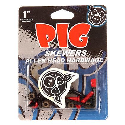 "Винты Pig Red Skewers 1"" Allen"