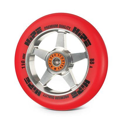 Колеса HIPE  H09 110мм silver/red