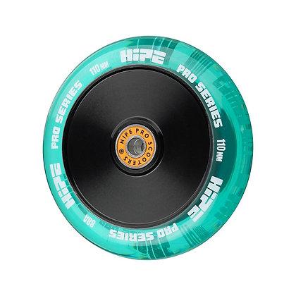 Колеса HIPE  H05 110мм прозрачный/зеленый
