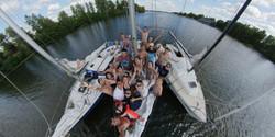 Поход на яхте по Днепру
