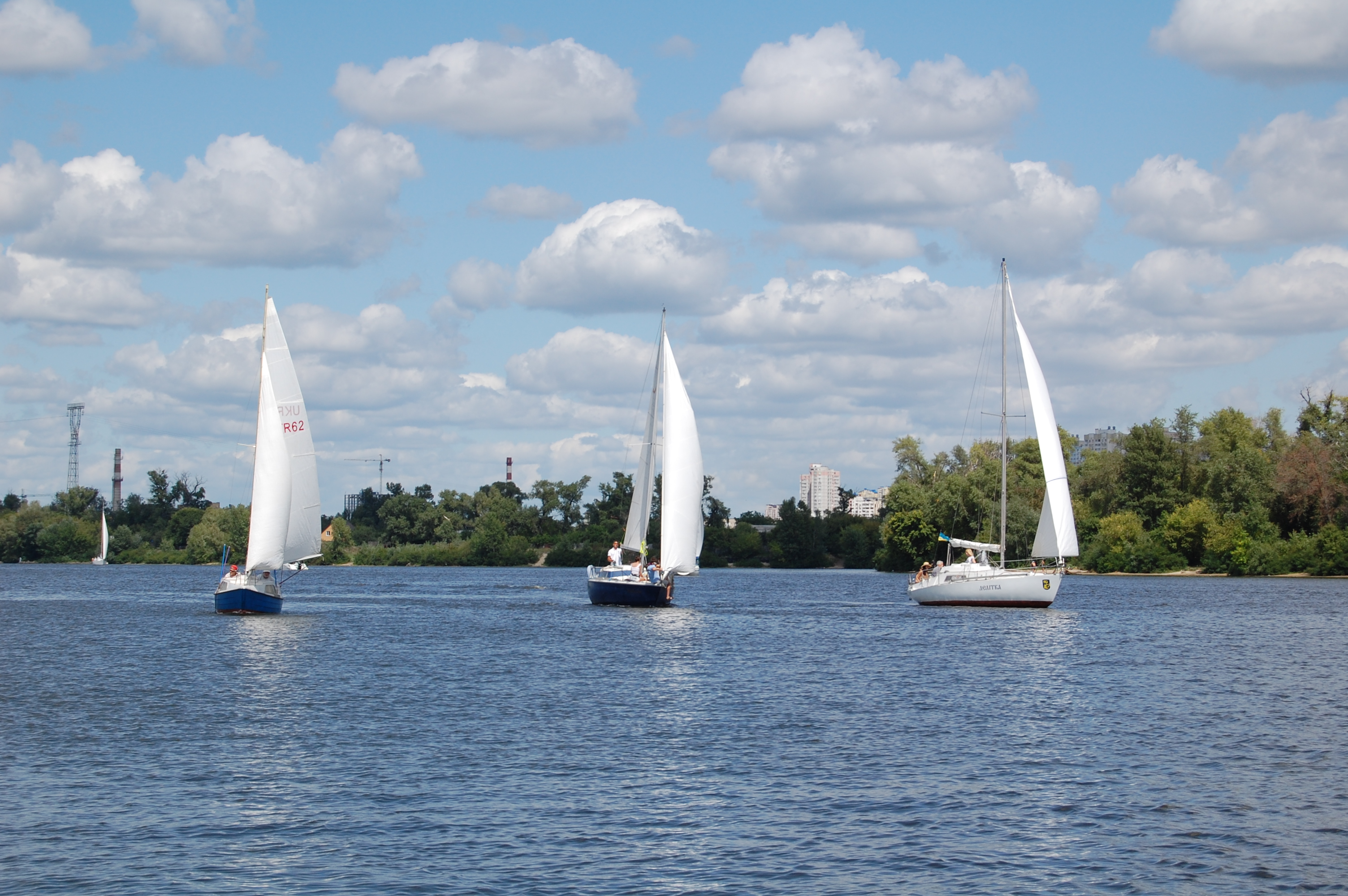 Яхтенный поход на 3 яхты