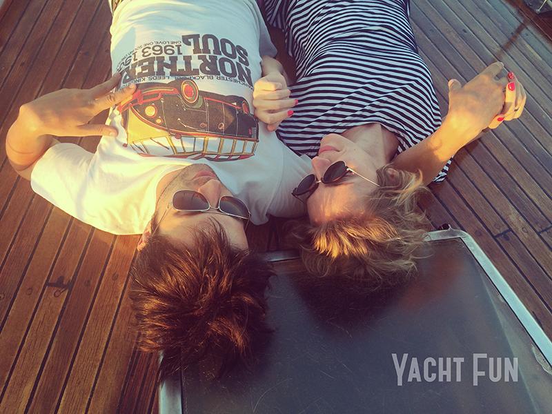 романтика на яхте