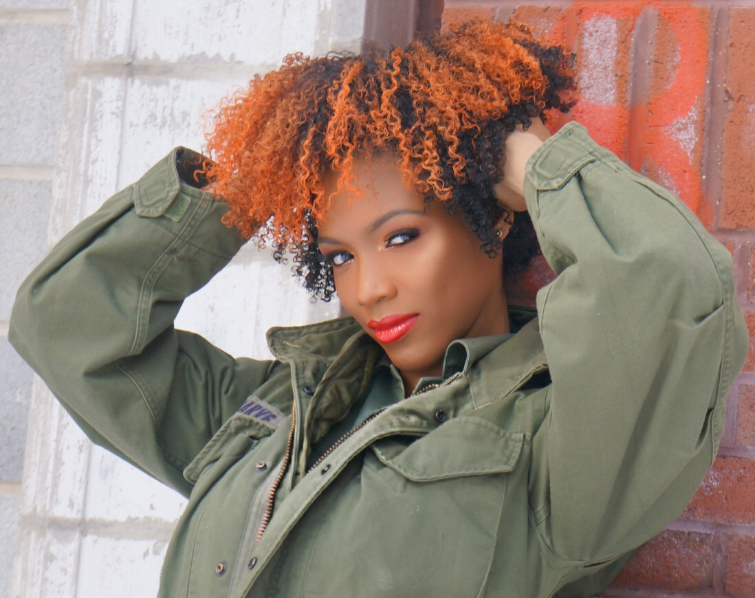 orange hair model