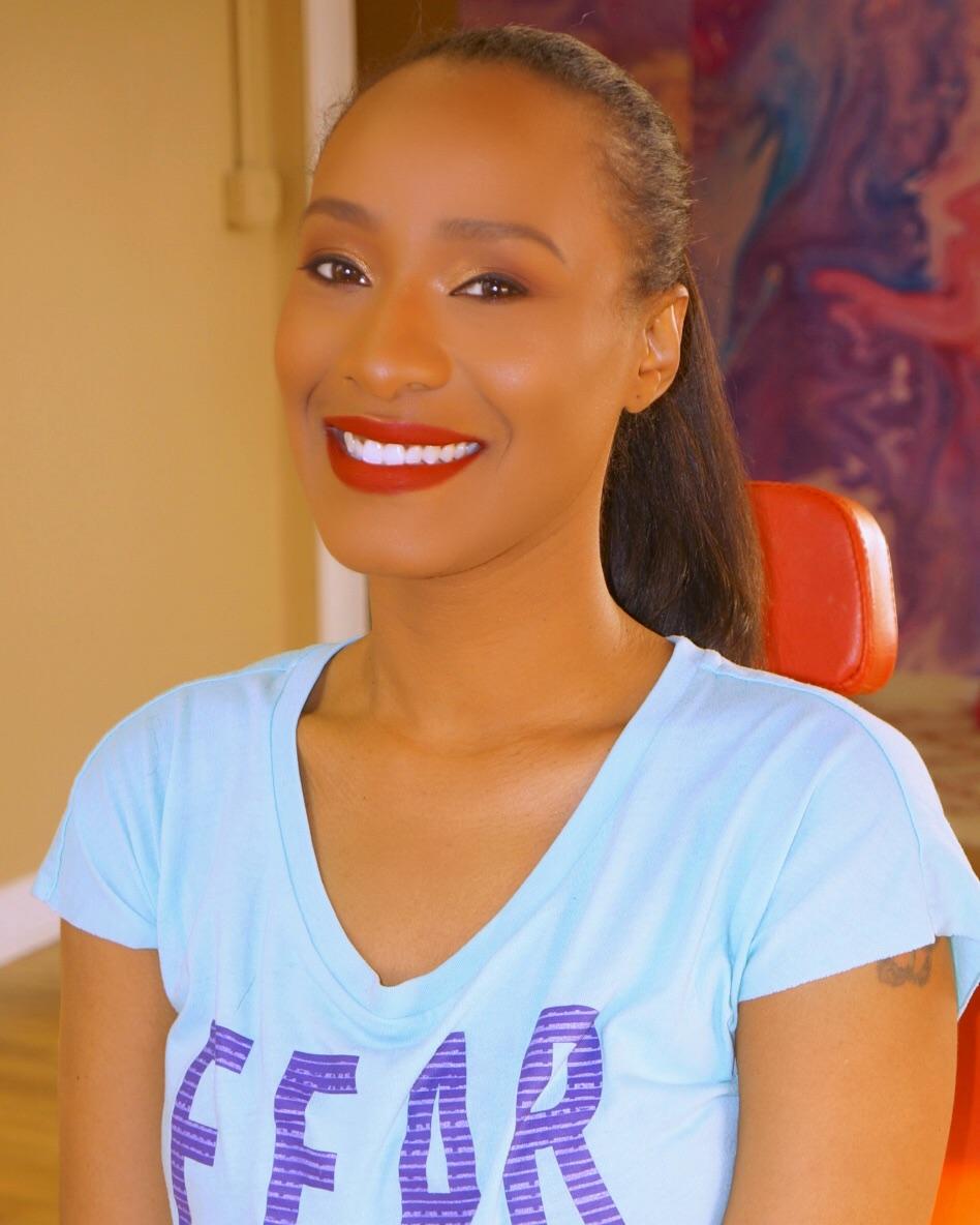 brown girl smiling