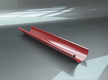 Latakas pusapvalis 3 m 125 mm