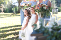 flower girls at ceremony