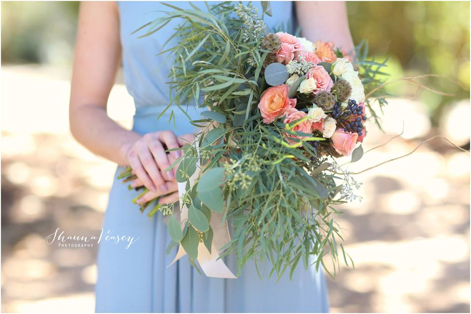 bouquet lush vinatge garden blush pinks light peach