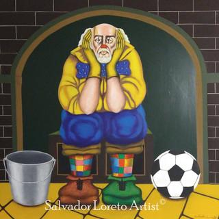 Clown Series: The Grand Dilemna; Kick the bucket or Kick the Ball