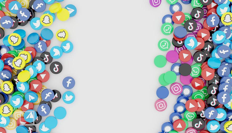 pile-of-popular-social-media-icon-3d-ren