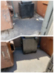 Dumpster cleaning, Grease cleaning
