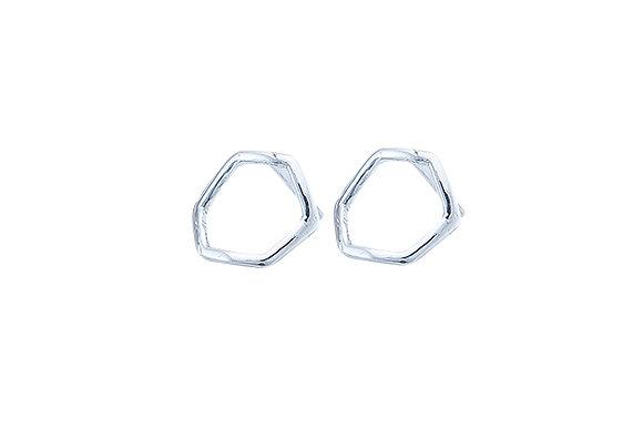 Aretes Tiny Geometric Rombo Silver