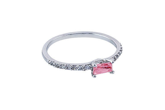 Anillo Vie Simple Silver & Pink