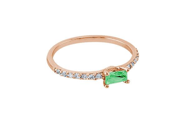 Anillo Vie Simple Pink & Green